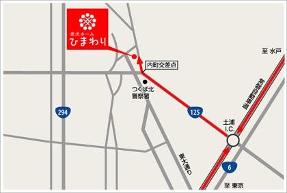 常磐自動車道からのマップ
