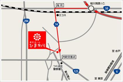 北関東自動車道からのマップ